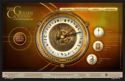The Alethiometer from The Golden Compass movie website