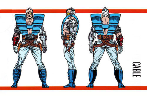 Cable - son of Cyclops and Jean Grey