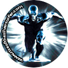 Silver Surfer Quarter Image - Print and Glue to Your Quarter