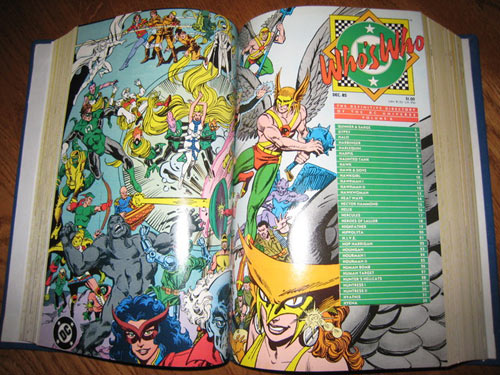 DC's Who's Who - Bound Volume of all 26 issues (cover shot).