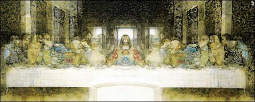 Image of the Hidden Mother/Child in Da Vinci's Last Supper