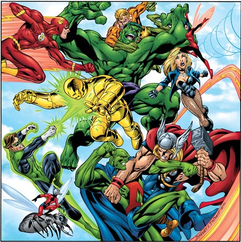 Mark Bagley Draws the JLA and Avengers