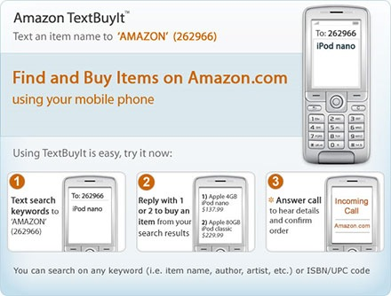 Use Amazon's TextBuyIt